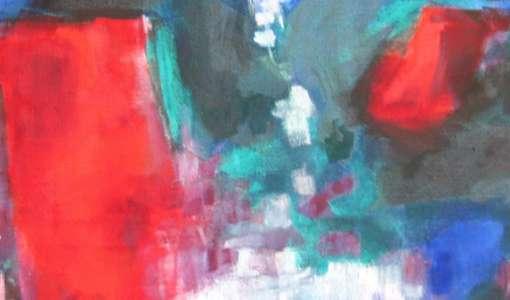 Gegenstandslose Malerei im großen Format